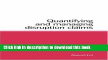 Books Quantifying and Managing Disruption Claims Free Online