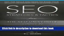 Ebook SEO Strategies   Tactics: Understanding Ranking Strategies for Search Engine Optimization