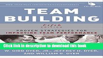 Books Team Building: Proven Strategies for Improving Team Performance Free Online