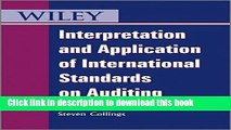[Download] Interpretation and Application of International Standards on Auditing Free Books