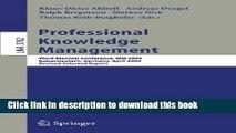 [PDF] Professional Knowledge Management: Third Biennial Conference, WM 2005, Kaiserslautern,