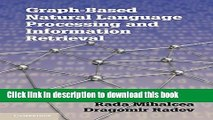 Ebook Graph-based Natural Language Processing and Information Retrieval Full Online