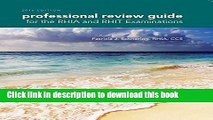 Ebook Professional Review Guide for the RHIA and RHIT Examinations, 2016 Edition (Book Only) Free