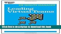 Ebook Leading Virtual Teams (HBR 20-Minute Manager Series) Full Online