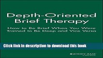 PDF  Depth Oriented Brief Therapy: How to Be Brief When You Were Trained to Be Deep and Vice