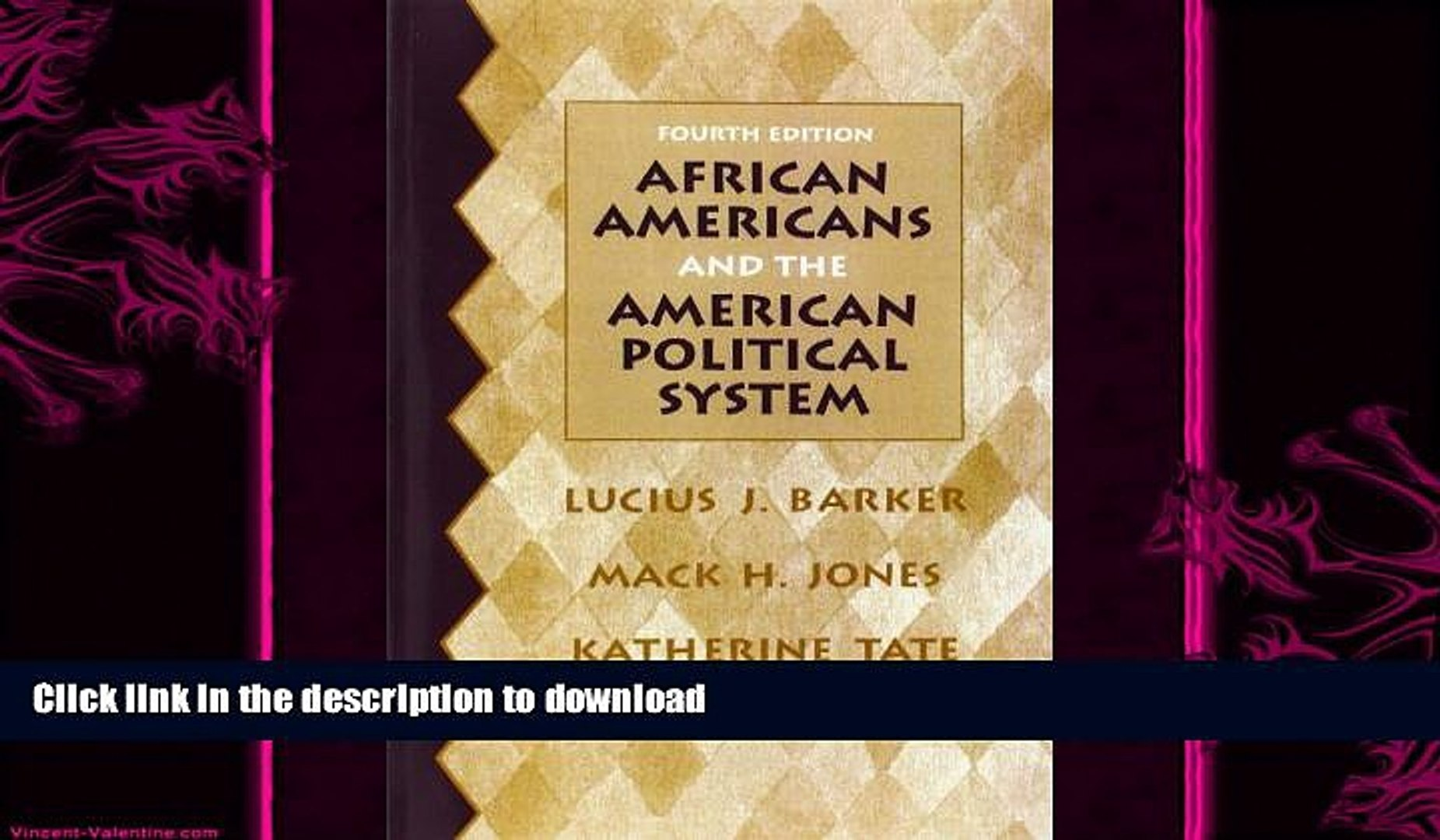 READ book  African Americans and the American Political System (4th Edition)  FREE BOOOK ONLINE