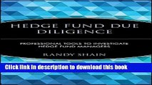 Ebook Hedge Fund Due Diligence: Professional Tools to Investigate Hedge Fund Managers Full Online