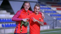 FC Barcelona training session: First session for Lucas Digne