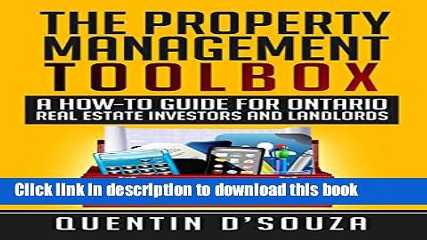 Ebook The Property Management Toolbox: A How-To Guide for Ontario Real Estate Investors and