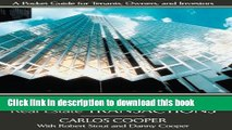 Read Books Commercial Real Estate Transactions: A Pocket Guide for Tenants, Owners and Investors