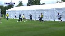 England Cricket Players Football Match Team Ali v Team Woakes