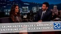 Ligue 1: Salma Hayek taille l'ambiance en tribune officielle