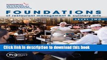 Ebook Foundations of Restaurant Management   Culinary Arts: Level 2 Free Online