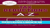 Books Tax Deductions A to Z for Dentists (Tax Deductions A to Z series) Full Online