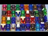 터닝메카드 장난감 40개를 4분에 변신하기 TurningMecard Car Toys