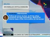 Morales: Bolivia no impone visas a Chile, como política de hermandad