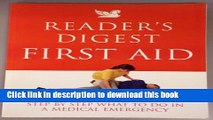 "Books "" Reader s Digest "" First Aid: Complete A-Z of Medicine and Health (Readers Digest) Free"