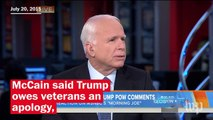 John McCain's up-and-down relationship with Donald Trump