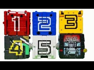 동물전대 쥬오우쟈 파워레인저 애니멀포스 큐브 1호 - 5호 DX쥬오킹 애니멀킹 합체 장난감 Power rangers super sentai toys