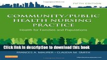 Books Community/Public Health Nursing Practice: Health for Families and Populations, 5e (Maurer,