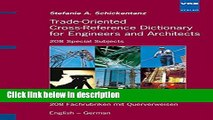Ebook Trade- Oriented Cross- Reference Dictionary for Engineers and Architects. 208 Special