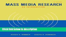 Books Mass Media Research: An Introduction (with InfoTrac) (Wadsworth Series in Mass Communication