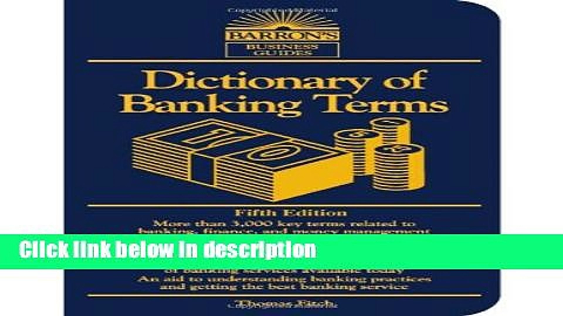 Books Dictionary of Banking Terms (Barron s Business Guides) Free Online