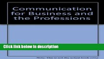 Ebook Communication for Business and the Professions Free Online