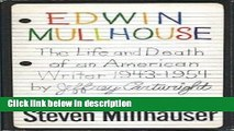 Books Edwin Mullhouse: The life and Death of an American Writer: 1943 - 1954 Full Online