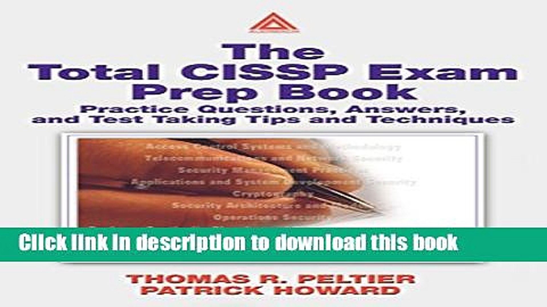 Books The Total CISSP Exam Prep Book: Practice Questions, Answers, and Test Taking Tips and