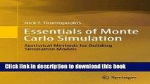 Books Essentials of Monte Carlo Simulation: Statistical Methods for Building Simulation Models