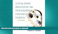 READ PDF Consumer Behavior   Managerial Decision Making with Marketing Communications READ PDF