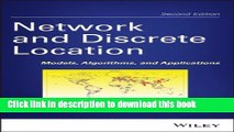 PDF  Network and Discrete Location: Models, Algorithms, and Applications  {Free Books|Online
