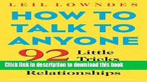 Ebook How to Talk to Anyone: 92 Little Tricks for Big Success in Relationships Full Online