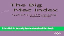[Download] The Big Mac Index: Applications of Purchasing Power Parity Free Books