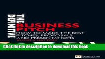 Ebook The Definitive Business Pitch: How to make the best pitches, proposals and presentations