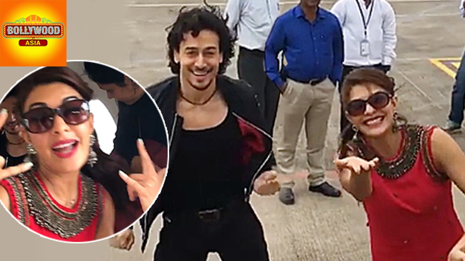 Tiger Shroff & Jacqueline Fernand FUNNY Video In-Flight | Bollywood Asia