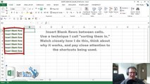 Excel Tips: Quickly Insert BLANK Rows In Between Cells - I Call It Sorting Them In