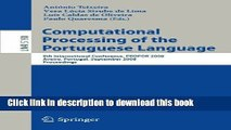 Books Computational Processing of the Portuguese Language: 8th International Conference, PROPOR