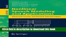 Books Nonlinear Speech Modeling and Applications: Advanced Lectures and Revised Selected Papers