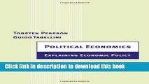[Download] Political Economics: Explaining Economic Policy (Zeuthen Lectures) Free Books