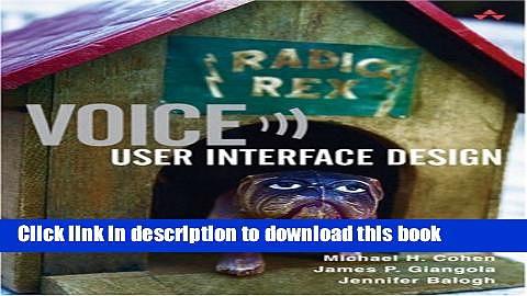 Ebook Voice User Interface Design Full Online