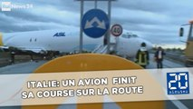 Italie: Un avion manque l'atterrissage et finit sa course sur la route