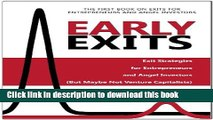 Ebook Early Exits: Exit Strategies for Entrepreneurs and Angel Investors (But Maybe Not Venture