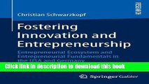 Download  Fostering Innovation and Entrepreneurship: Entrepreneurial Ecosystem and Entrepreneurial