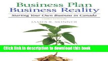 Books Business Plan, Business Reality: Starting and Managing Your Own Business in Canada (3rd