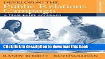 [Read PDF] Developing the Public Relations Campaign A Team-Based Approach (Paperback, 2008) 2ND