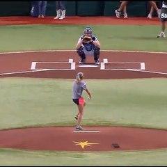 Un receptor de béisbol distinto a los demás