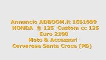 HONDA  @ 125  Custom cc 125