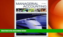 FREE PDF  Managerial Accounting: Creating Value in a Dynamic Business Environment, 9th READ ONLINE